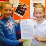 Two Chesterfield Schoolgirls Receive Response From Prime Minister
