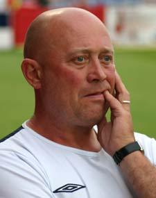 Manager Nicky Law has no recognised goalkeeper for the tie and an outfield player will have to play in goal.