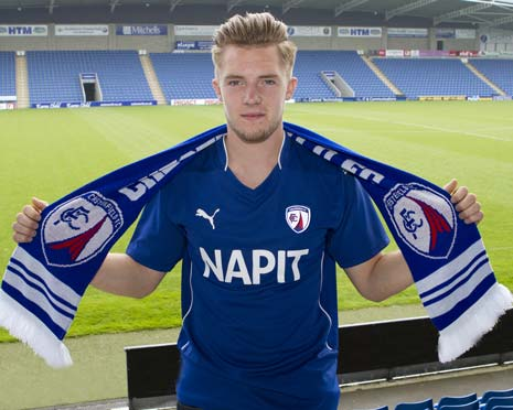 Chesterfield-born Charlie Dawes was signed from Sheffield Wednesday last summer.