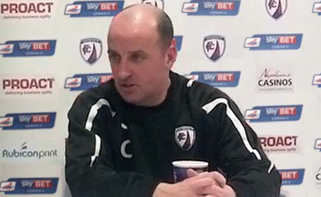 Ahead of the final league game before Christmas, Chesterfield gaffer Paul Cook faced the press in his weekly press conference and said that he feels the upcoming game against Peter Taylor's Gillingham would be a Big challenge.