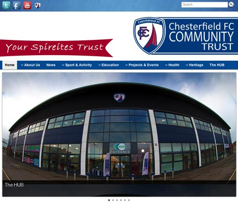 The Chesterfield FC Community Trust is celebrating the launch of its new website