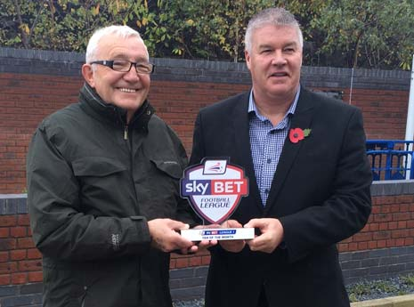 Chesterfield fan Mick Beddingham has been named the Sky Bet League 1 Fan of the Month for October.