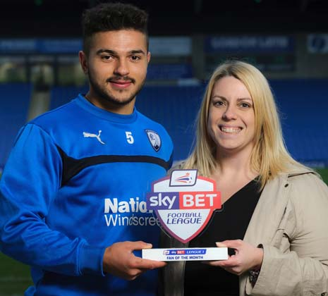 Chesterfield fan Lesley Brentnall has been named the Sky Bet League 1 Fan of the Month for November.