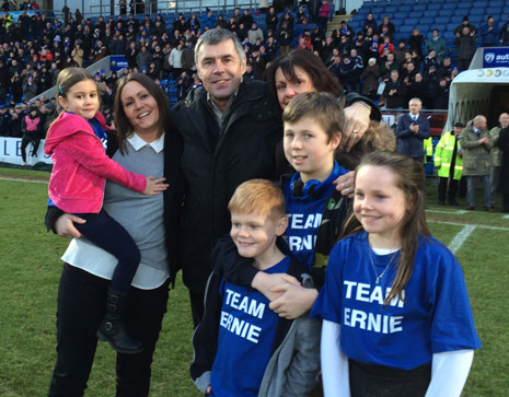 Ernie Moss and his family receive a huge ovation from the 7000 strong crowd at the Proact for 'Ernie Moss Day'