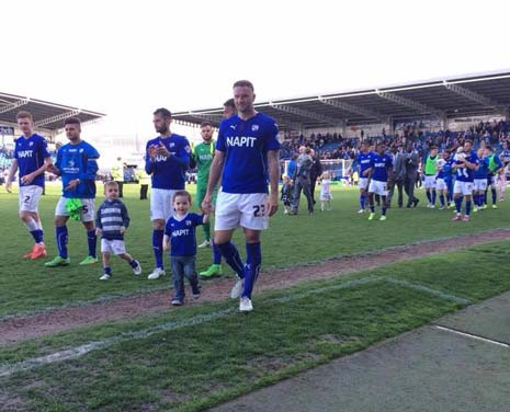 The players then enjoyed a lap of honour, some with their children, before thoughts turn to a seminal derby game at Sheffield United - where a win could even see the Spireites sneak 5th spot.