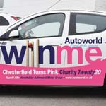 'Owzat For A Great Set Of Pink Wheels from Autoworld. Win a Pink Suzuki Alto for Charity!