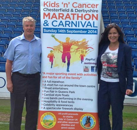 Chesterfield FC CEO Chris Turner will run the Half Marathon distance within the race, which takes place in the town on September 14th. He is running on behalf of the Spireites' Football in the Community programme.