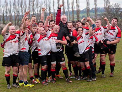 Chesterfield Panthers 1st XV have been crowned league champions - for the first time in over 25 years, following their confirmation of promotion, Chesterfield cruised to victory over Keyworth RUFC on Saturday 5th April with a 90 - 0 win.