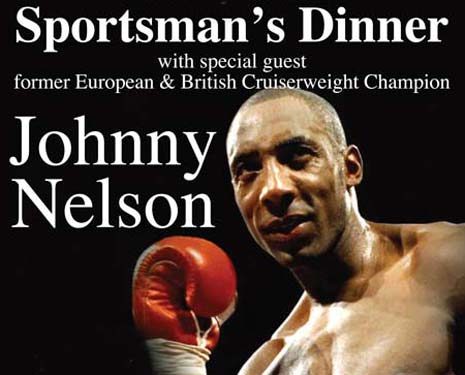 Champion boxer Johnny Nelson will be the special guest at a fundraising dinner organised by Staveley Miners Welfare FC later this month.