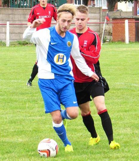 Finlaw, Watters and Damms combined well as the visitors tried passing their way around a resolute Maltby defence