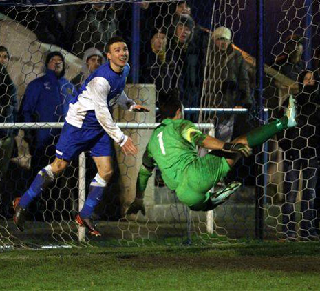 Most of the play was now in Staveley's half and the visitors came close again when Brad Jones had to head off the line to clear a header from Conor Higginson with Hernandez for once beaten.